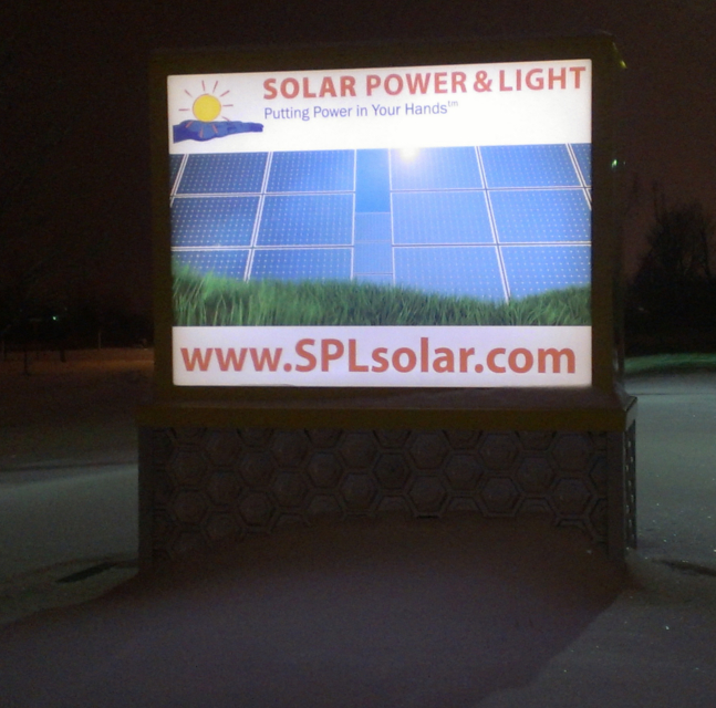 solar powered power signs signage for business commercial farms wayfind