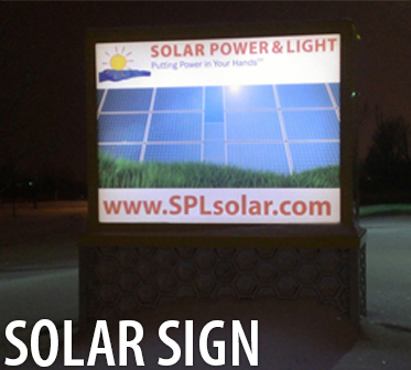 solar power signs signage for commercial business wayfind parkways and advertising