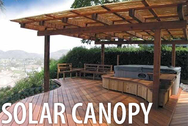 solar power canopy pergola for commercial or residential homes