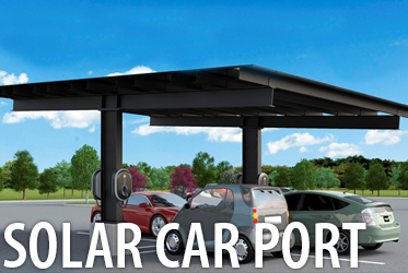 solar power carport for commercial or residential homes