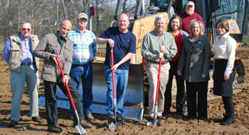 groundbreaking at St. Paris facility